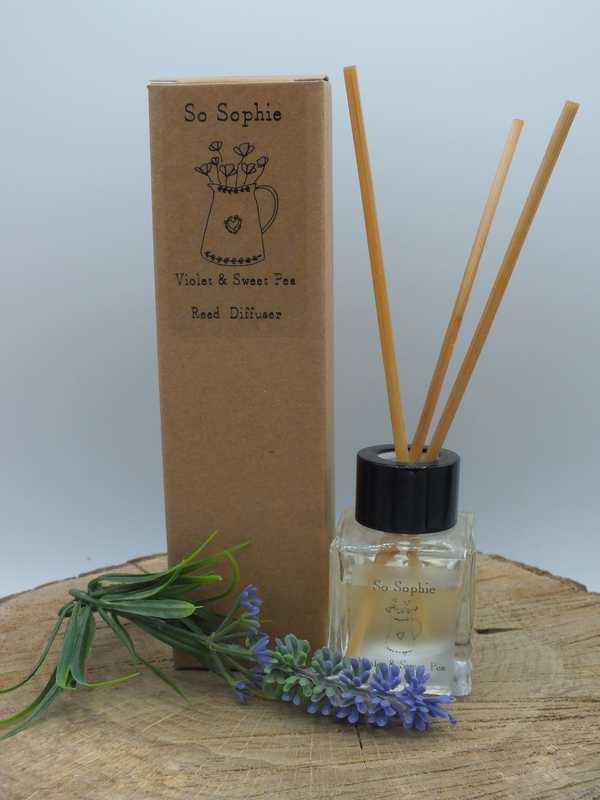 Violet and Sweet pea Reed Diffuser