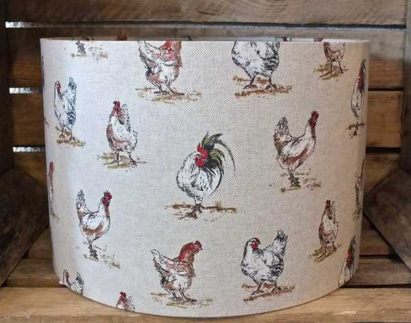 Beige chicken lampshade 30cm