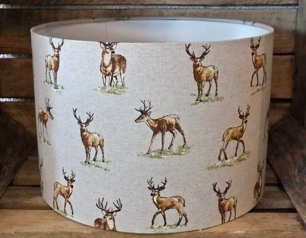 Beige Small Stag Lampshade 30cm