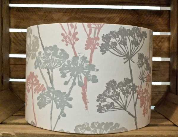 Pastel Cow Parsley Print Lampshade 30cm