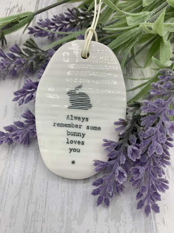 Always remember porcelain hanging oval plaque