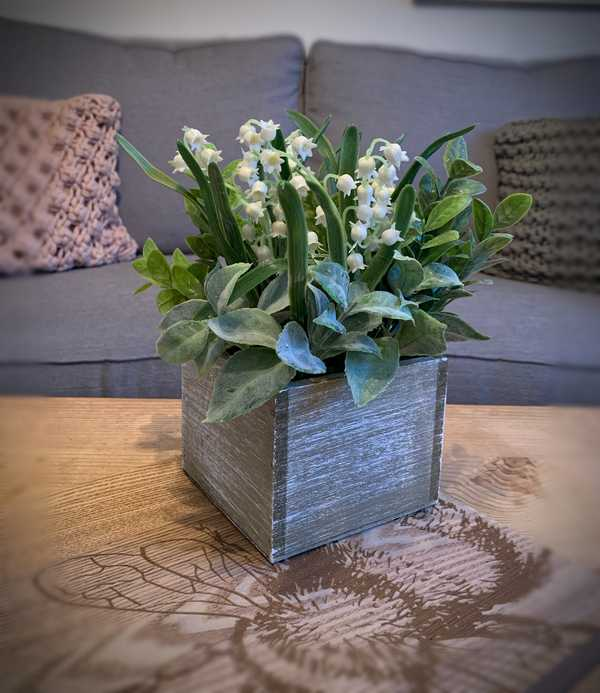 Herb And Lily Of The Valley Rustic Arrangement