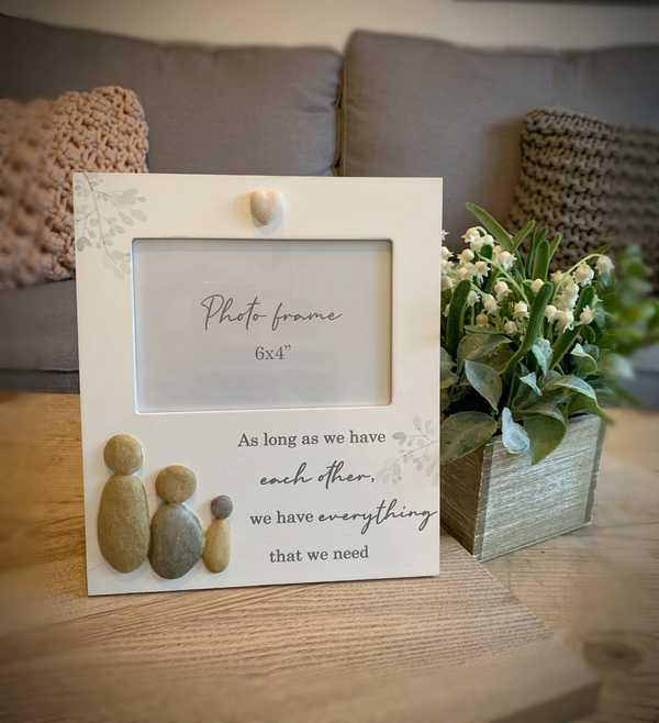 Pebble Family Of Three Photo Frame