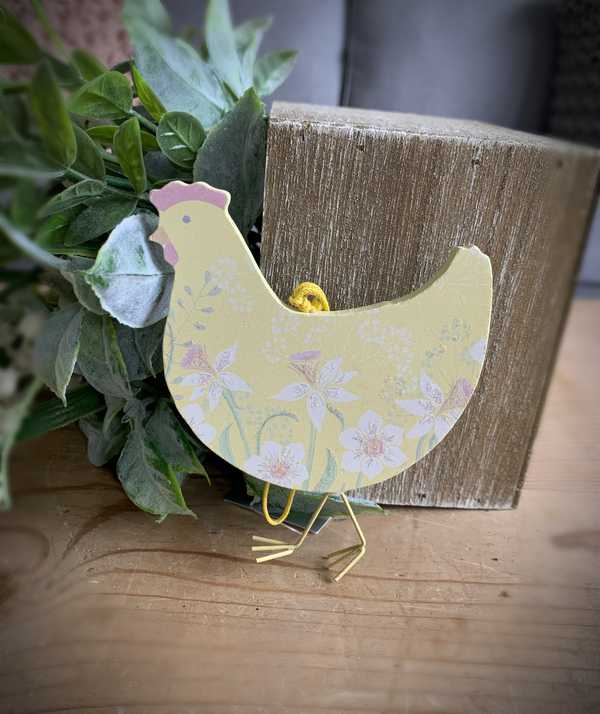 Yellow Daffodil Hanging Easter Chicken