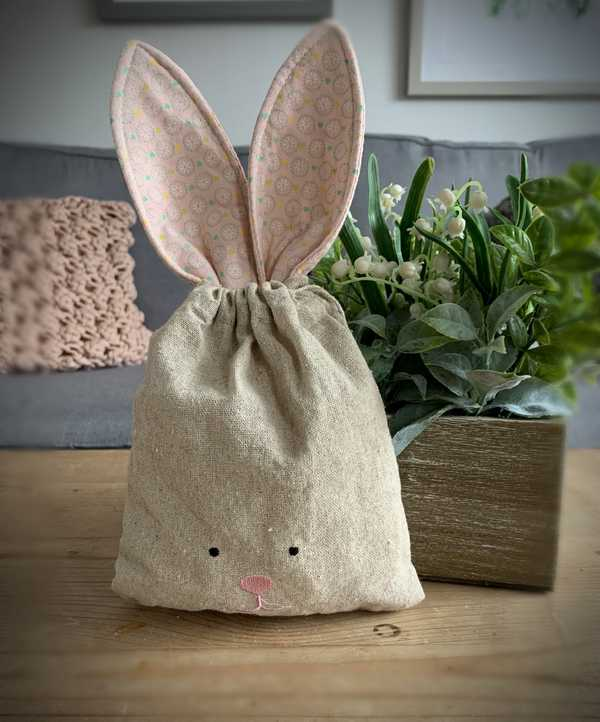 Easter Bunny Fabric Pouch
