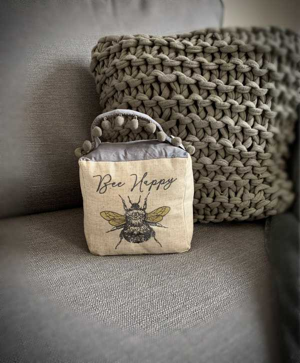 Bee Happy Door Stop